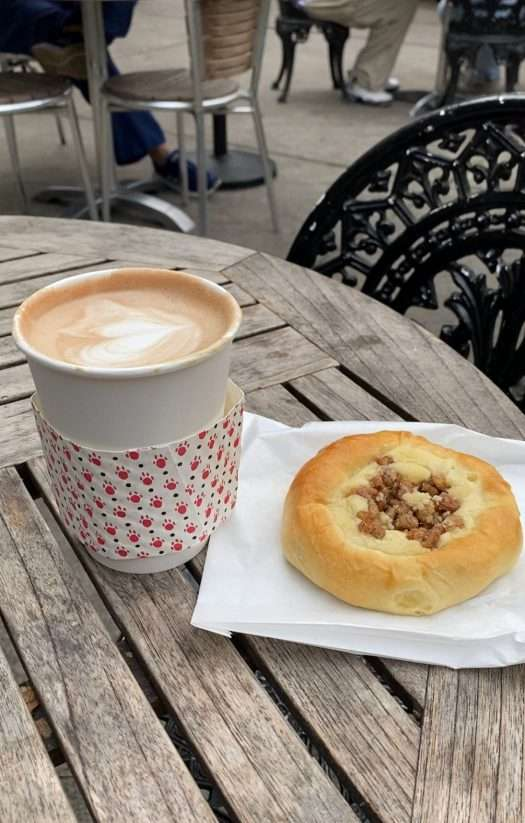 coffee and pastry at foxy loxy cafe whenever I visit savannah