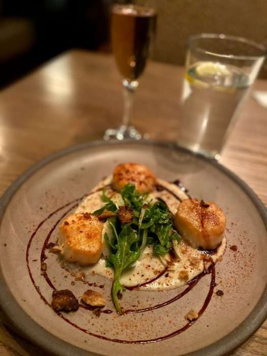 scallops dish at Chestnut in Asheville NC
